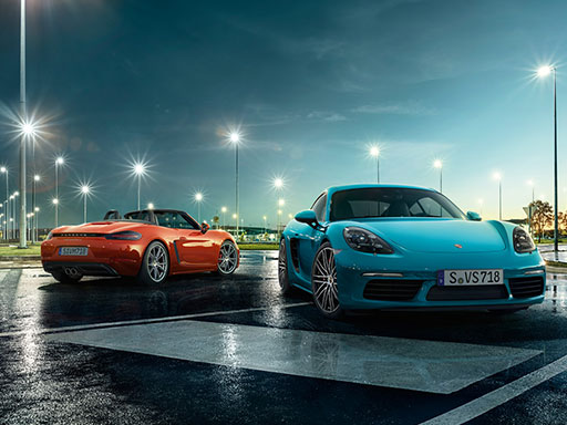 Entdecken Sie die Faszination Porsche 718 Mittelmotor – vom Fahrersitz aus.
